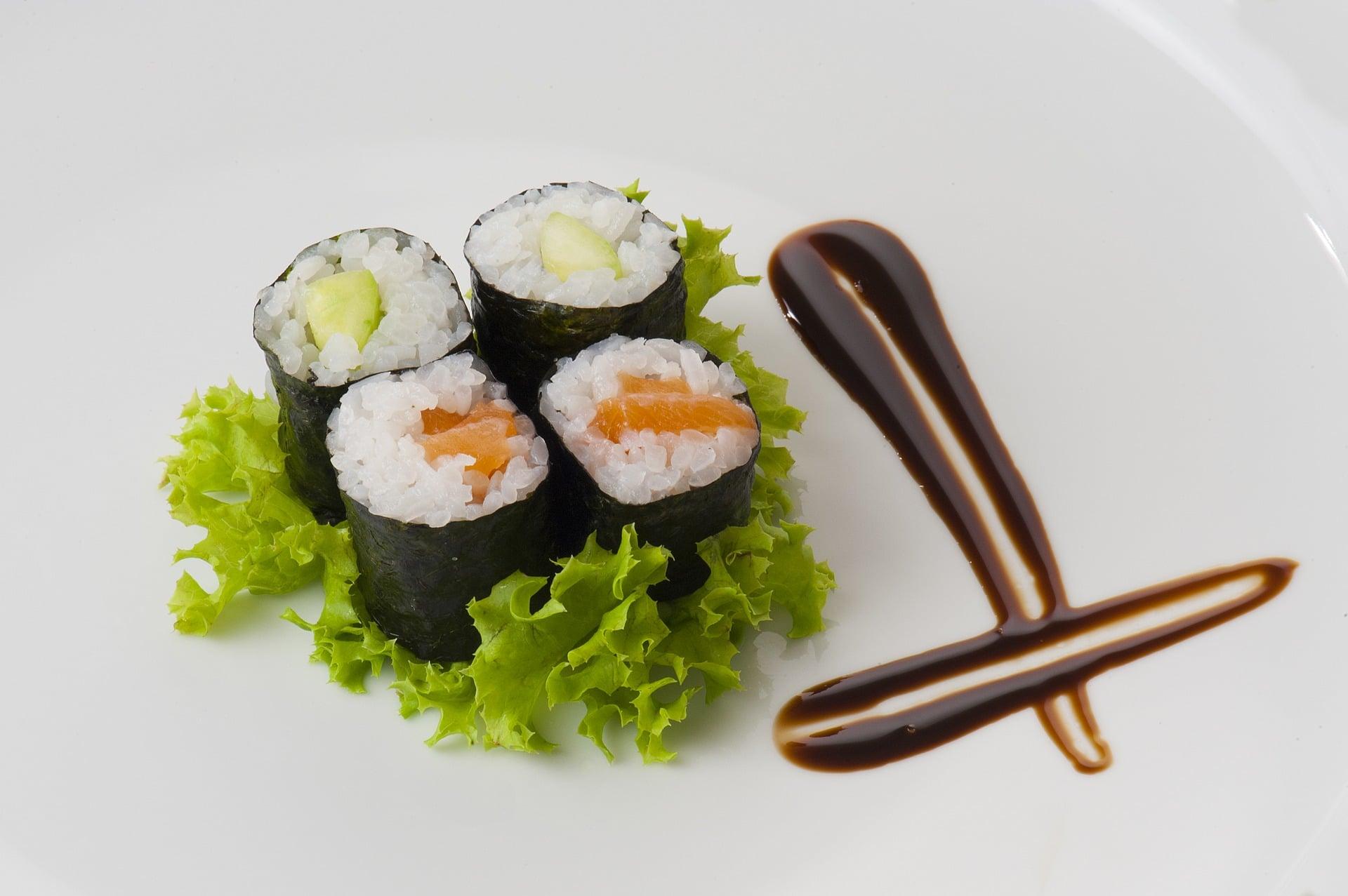 apresentação sushi