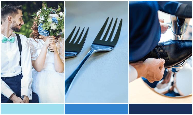 paleta para casamento azul