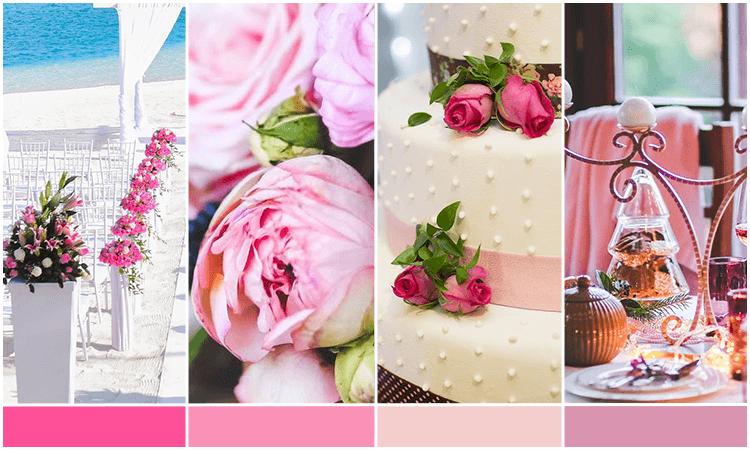 paleta rosa para casamento