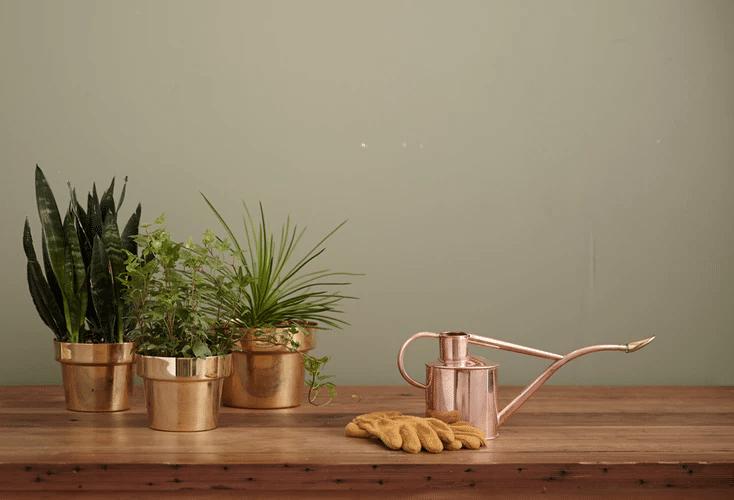 decoração rosé gold na cozinha