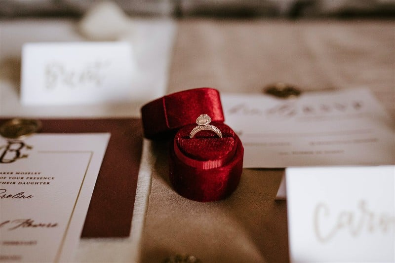 anéis de noivado